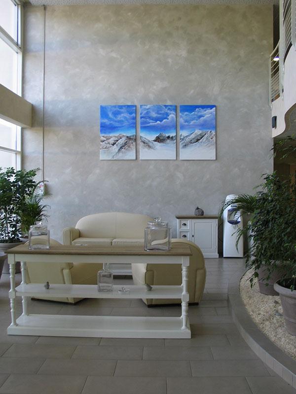 Vue du salon de de l'Ehpad Le Bosquet de Mandallaz