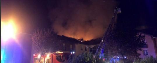 Le Bosquet de la Mandallaz, à Sillingy, touché par un incendie